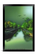 THE OLD CANAL, Framed Print