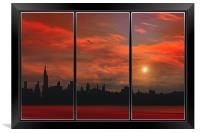 HOT IN THE CITY, Framed Print