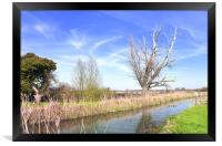 Fenland Scene - A view of a fen lode, Framed Print