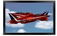 The Red Arrows Synchro Pair, Framed Print