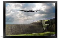 The Dam Busters over The Derwent, Framed Print