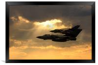 Tornado Role Demo, Framed Print