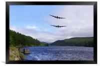 Bombers at the Dam , Framed Print
