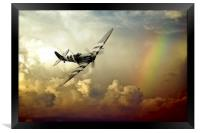 Spitfire Passing Through The Storm , Framed Print