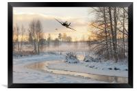 Flirting With The Tree Tops, Framed Print
