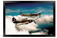 BBMF Spitfire and Hurricane, Framed Print