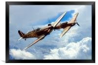 The BBMF Spitfire and Hurricane, Framed Print