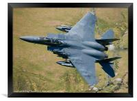 An F15 training in Wales, Framed Print