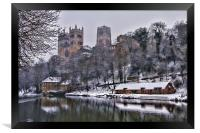 Durham Cathedral in Winter, Framed Print