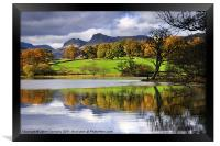 Reflections At Loughrigg Tarn, Framed Print