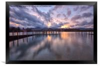 Derwentwater Last Light, Framed Print