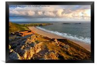 Rhossili Golden Hour, Framed Print