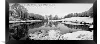 The River Brathay In Winter, Framed Print