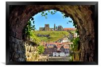 Whitby Abbey through The Arch, Framed Print