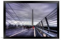 The North Tower of the Queensferry Crossing, Framed Print