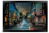 Wet Morning in Kemp Town, Framed Print