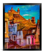 """Hastings Old Town """"Paintography"""", Framed Print"""