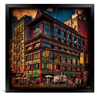 The Chinese Bank, Chinatown, New York City, Framed Print