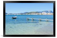 Two Plank Jetty And Puerto Pollensa Harbour, Framed Print