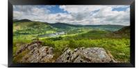 Rydal water lake district Cumbria , Framed Print