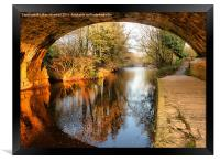 Under the Aquaduct., Framed Print