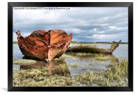 Decommissioned Trawlers., Framed Print