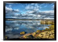 Kent Viaduct and Arnside Pier., Framed Print