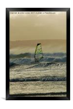 COMING IN ON A WAVE, Framed Print