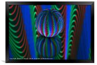 Abstract art Segments in the crystal ball, Framed Print
