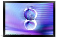 Rolling orb in a rush, Framed Print