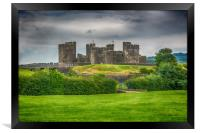 Caerphilly Castle East View 2, Framed Print