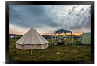 Early morning campsite, Framed Print