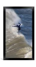 Catching a Wave., Framed Print