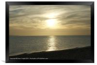 Looking to the distant sunset., Framed Print