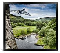 Over the Dam, Framed Print