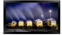 Deltic Smoke in the Night, Framed Print