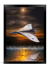Delta Lady Low over the Water, Framed Print