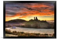 Merlin Dawn over Corfe Castle, Framed Print