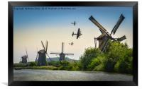 BBMF Over the Windmills Of Holland, Framed Print