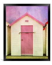 Pink Beach Hut, Framed Print