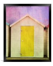 Yellow Beach Hut, Framed Print