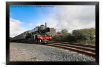 The Flying Scotsman in Cornwall, Framed Print