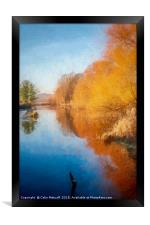 Winter Sun on the Aire, Framed Print