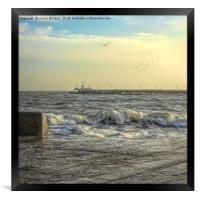 Swanage Harbour and the Pier in Winter, Framed Print