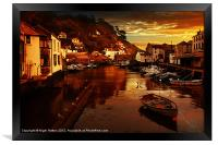 Polperro Sunset, Framed Print