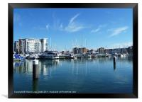 Yachts at Harbour, Framed Print