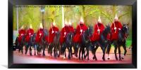 The Queens Life Guards on the Mall, Framed Print