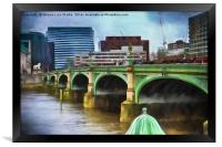 A busy day on Westminster bridge, Framed Print