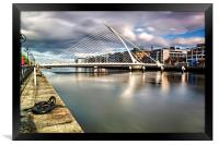 Samuel Beckett Bridge  , Framed Print