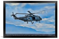 Royal Navy Helicopter, Framed Print